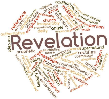 Abstract word cloud for Revelation with related tags and terms Stock Photo - 16629198
