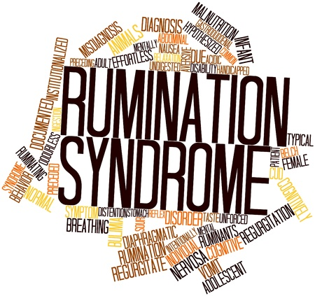 belch: Abstract word cloud for Rumination syndrome with related tags and terms Stock Photo