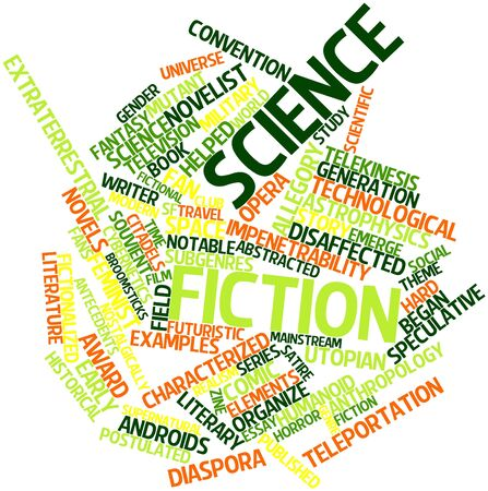 pejorative: Abstract word cloud for Science fiction with related tags and terms