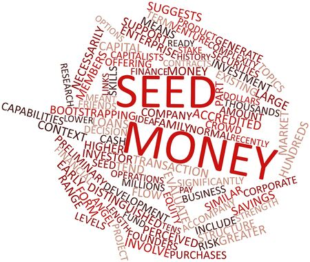 meant: Abstract word cloud for Seed money with related tags and terms