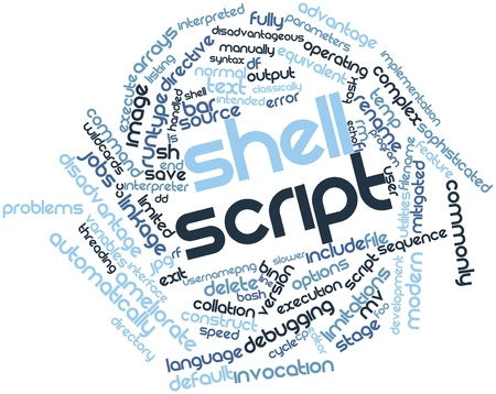 bash: Abstract word cloud for Shell script with related tags and terms