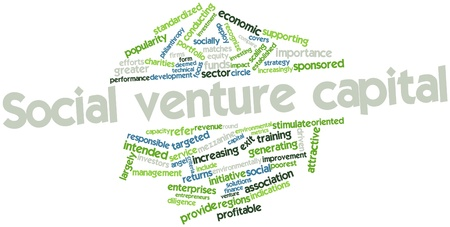 venture: Abstract word cloud for Social venture capital with related tags and terms Stock Photo