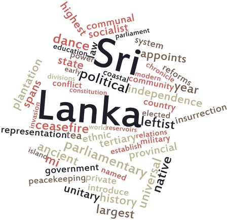 Abstract word cloud for Sri Lanka with related tags and terms Stock Photo - 16627990