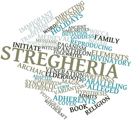 adherents: Abstract word cloud for Stregheria with related tags and terms