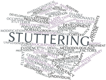 auditory: Abstract word cloud for Stuttering with related tags and terms