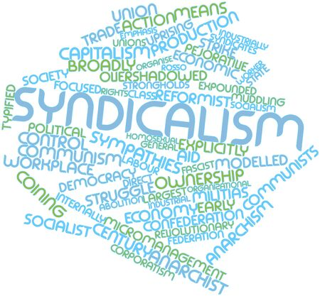 organise: Abstract word cloud for Syndicalism with related tags and terms
