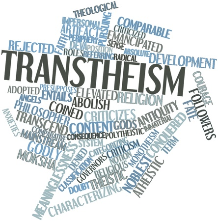 Abstract word cloud for Transtheism with related tags and terms Stock Photo - 16629193