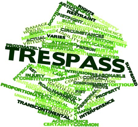 unsolicited: Abstract word cloud for Trespass with related tags and terms