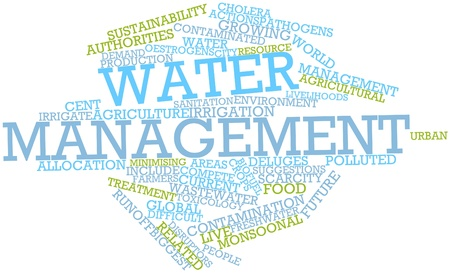 approximately: Abstract word cloud for Water management with related tags and terms