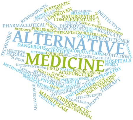 public safety: Abstract word cloud for Alternative medicine with related tags and terms