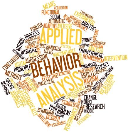 Word cloud astratto per l'analisi del comportamento applicata con tag correlati e termini