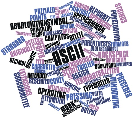 facto: Abstract word cloud for ASCII with related tags and terms
