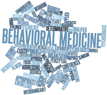 Abstract word cloud for Behavioral medicine with related tags and terms Stock Photo - 16633425