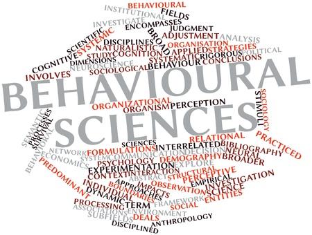 disciplines: Abstracte woord wolk voor Gedragswetenschappen met gerelateerde tags en termen
