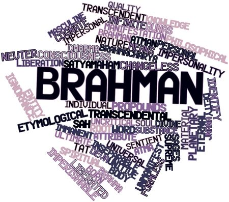 brahman: Abstract word cloud for Brahman with related tags and terms Stock Photo