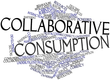 modes: Abstract word cloud for Collaborative consumption with related tags and terms