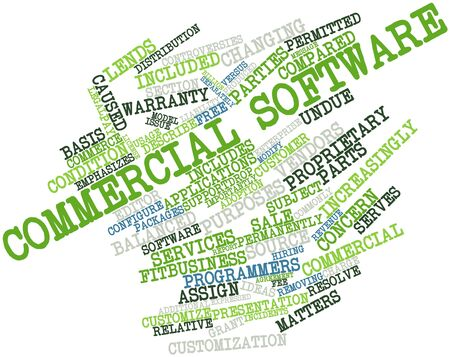 Abstract word cloud for Commercial software with related tags and terms Stock Photo - 16632459