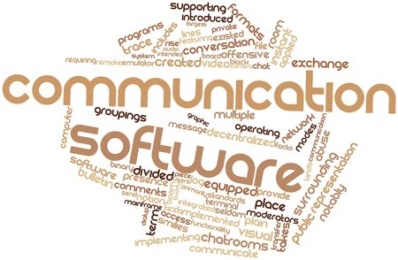 facto: Abstract word cloud for Communication software with related tags and terms