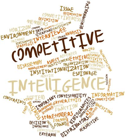 competitive business: Abstract word cloud for Competitive intelligence with related tags and terms Stock Photo