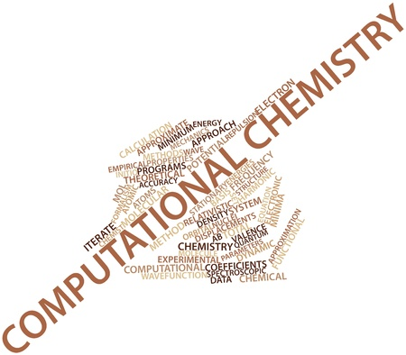 mol: Abstract word cloud for Computational chemistry with related tags and terms