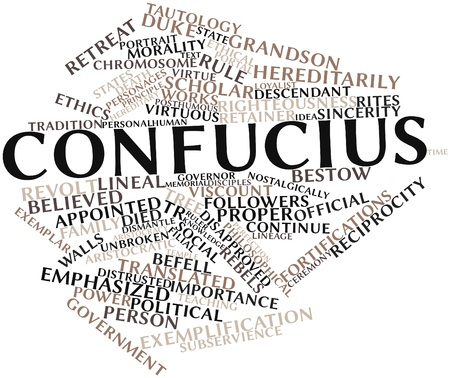 lineage: Abstract word cloud for Confucius with related tags and terms