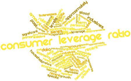apalancamiento: Nube palabra abstracta para la relaci�n de apalancamiento del consumidor con las etiquetas y t�rminos relacionados