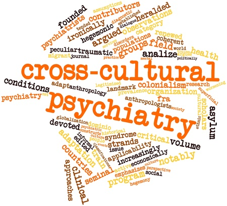contributors: Abstract word cloud for Cross-cultural psychiatry with related tags and terms