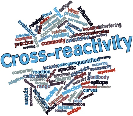 Abstract word cloud for Cross-reactivity with related tags and terms Stock Photo - 16632848