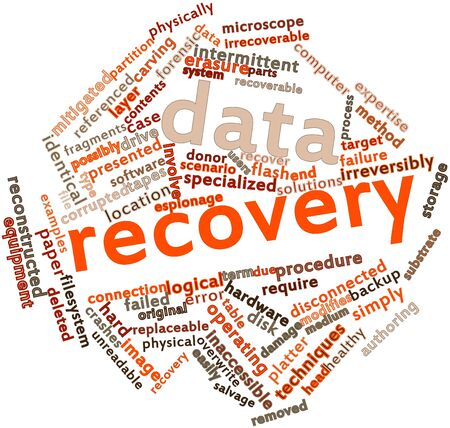data recovery: Abstract word cloud for Data recovery with related tags and terms