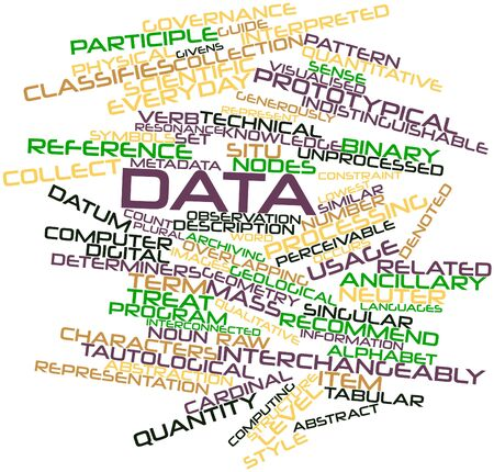 Abstract word cloud for Data with related tags and terms