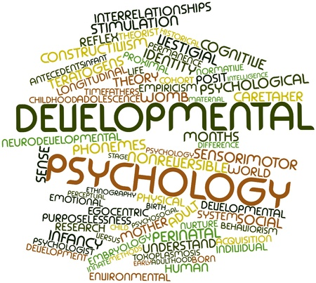 Abstract word cloud for Developmental psychology with related tags and terms photo