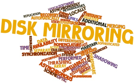 synchronously: Abstract word cloud for Disk mirroring with related tags and terms