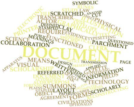 dagvaarding: Abstract woordwolk voor Document met gerelateerde tags en voorwaarden