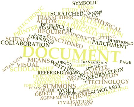 reconstructing: Abstract word cloud for Document with related tags and terms