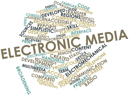 inaccessible: Abstract word cloud for Electronic media with related tags and terms