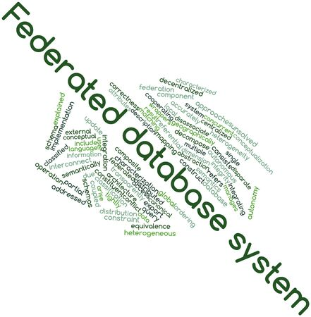 heterogeneity: Abstract word cloud for Federated database system with related tags and terms