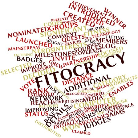 awarded: Abstract word cloud for Fitocracy with related tags and terms