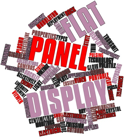 advertised: Abstract word cloud for Flat panel display with related tags and terms