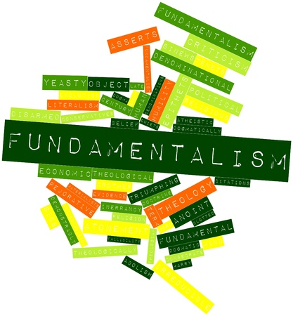 pejorative: Abstract word cloud for Fundamentalism with related tags and terms