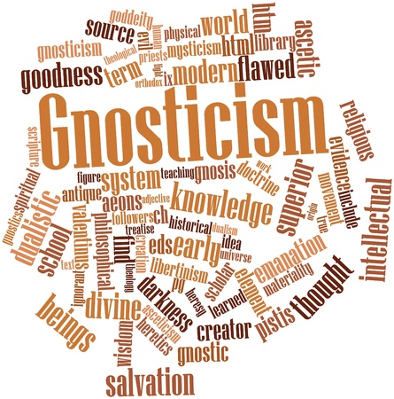 theological: Abstract word cloud for Gnosticism with related tags and terms
