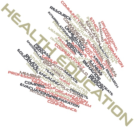 peer: Abstract word cloud for Health education with related tags and terms