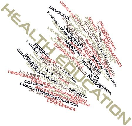 peer to peer: Nube palabra abstracta para Educación para la salud con las etiquetas y términos relacionados