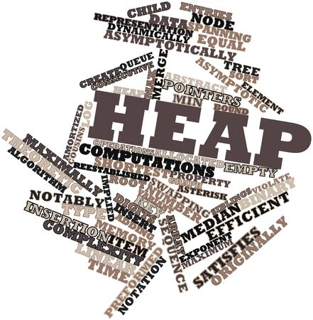 computations: Abstract word cloud for Heap with related tags and terms
