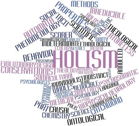 Abstract word cloud for Holism with related tags and terms Stock Photo - 16632471