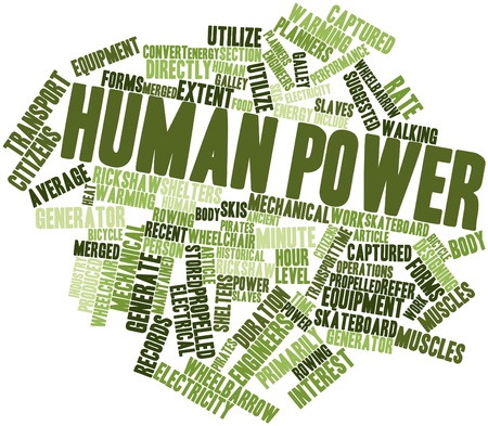 extent: Abstract word cloud for Human power with related tags and terms