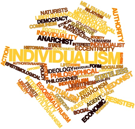 humanism: Abstract word cloud for Individualism with related tags and terms
