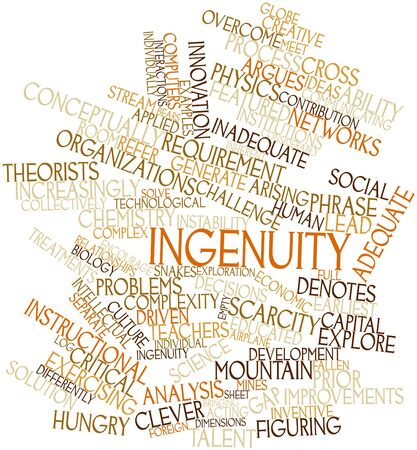 Abstract word cloud for Ingenuity with related tags and terms Stock Photo - 16633381