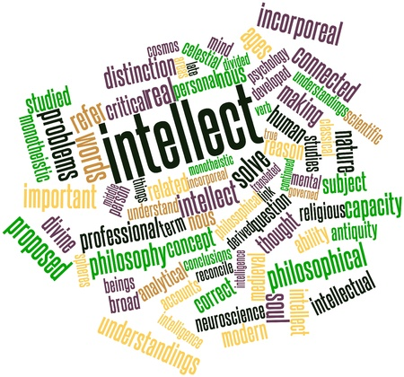 translated: Abstract word cloud for Intellect with related tags and terms