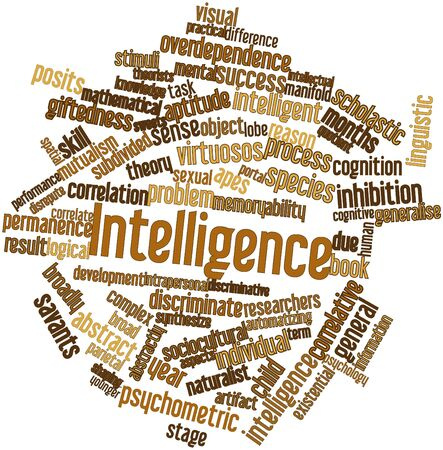 Abstract word cloud for Intelligence with related tags and terms Stock Photo - 16633532