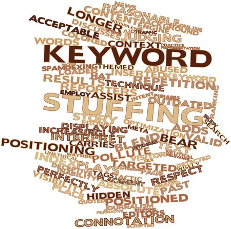 valid: Abstract word cloud for Keyword stuffing with related tags and terms